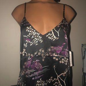 NWT Nordstrom Melrose Market Black Floral Dress M